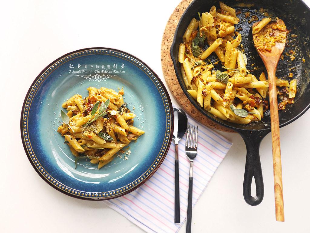孤身廚房-愛上短義大利麵-南瓜培根起司筆管麵22