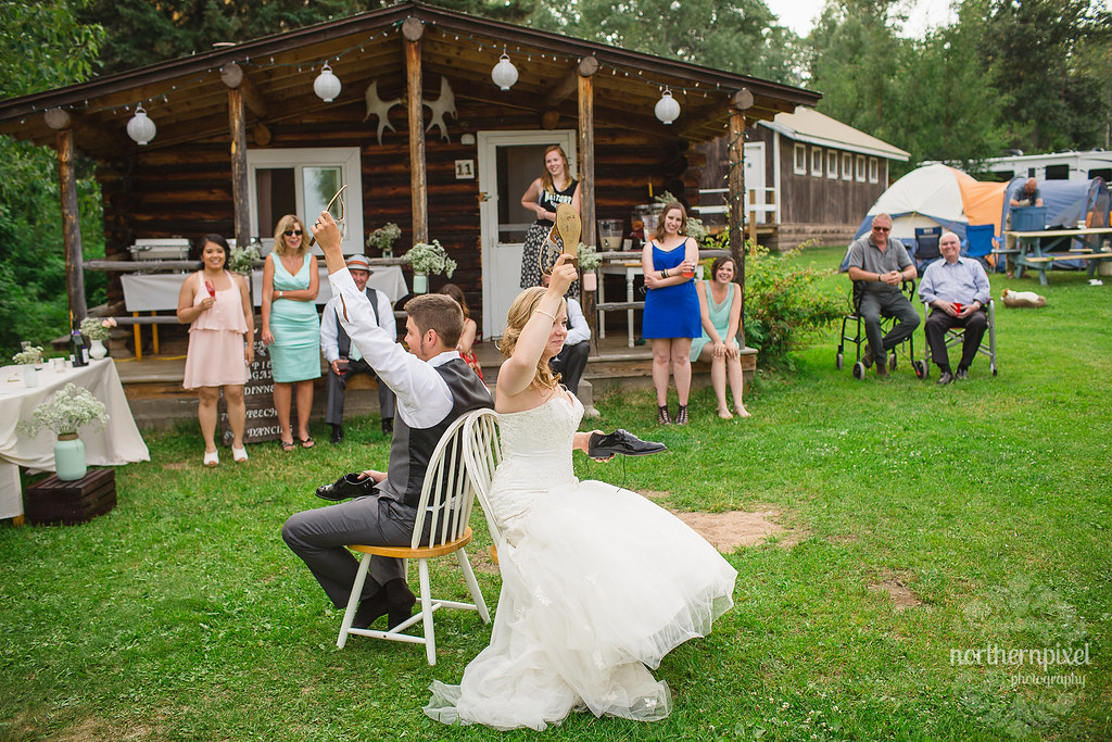 Francois Lake Wedding Reception