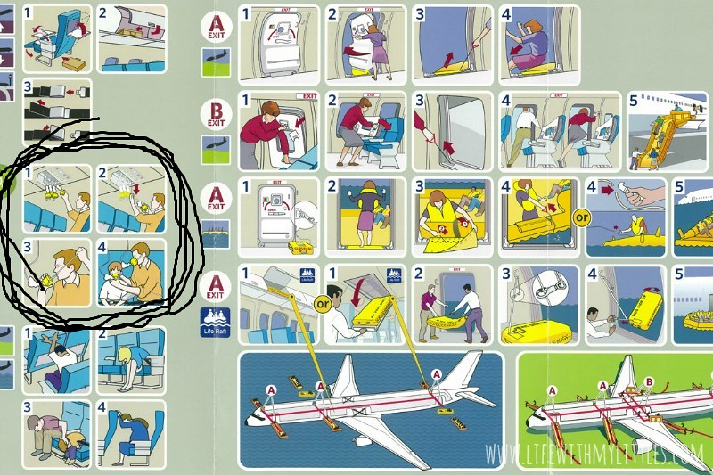 Whoever wrote the airplane safety brochure wasn't a parent. Because as parents we put our children first.