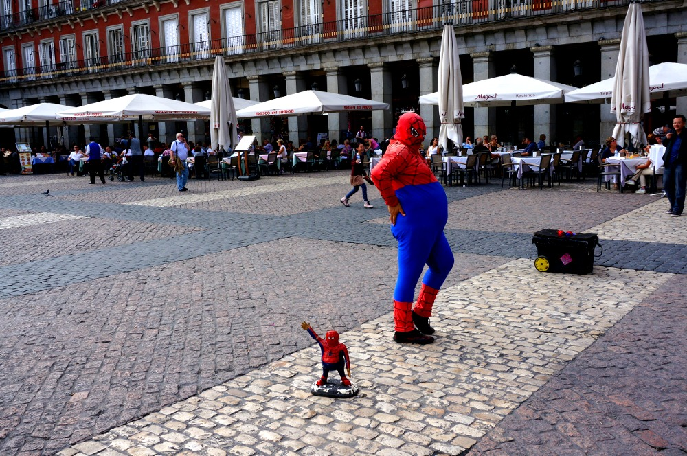 Fat Spidey In Plaza Mayor