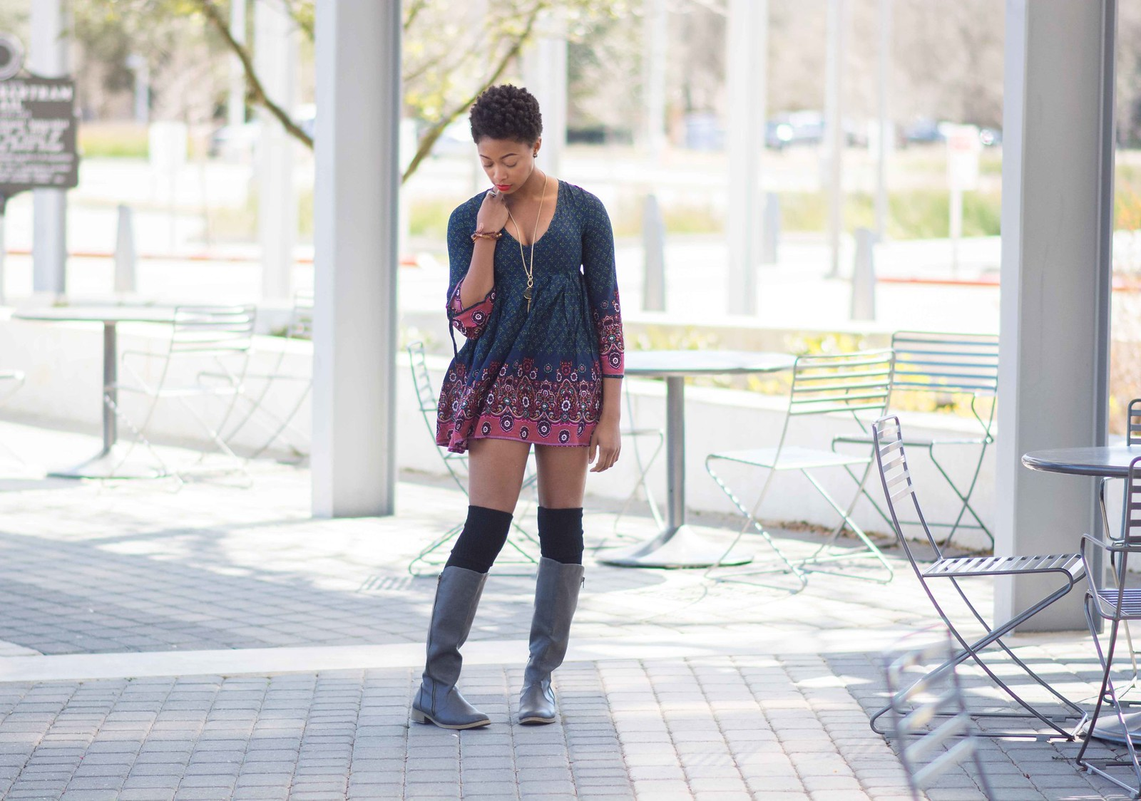 bell sleeved dress louisiana fashion blogger