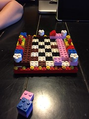 Ad hoc Lego chessboard. Starting somewhere...