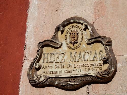 San Miguel de Allende - straatnaambordje