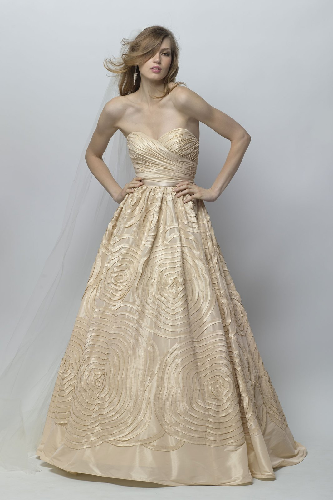 "Champagne wedding dress by Wtoo ""Camila"" 