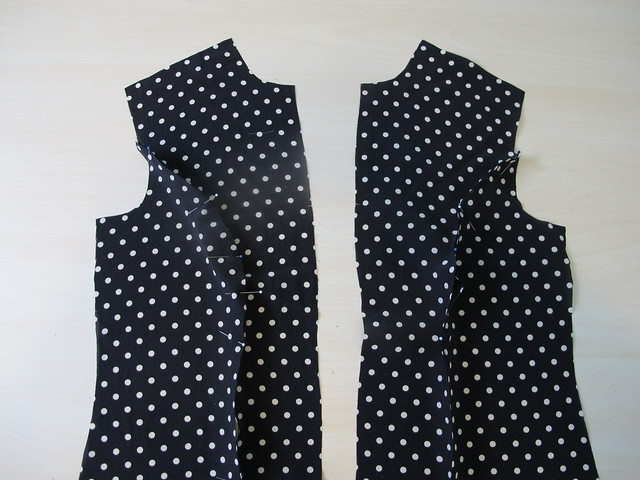 Silk Tie Blouse - mirroring fronts