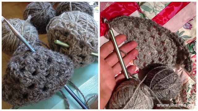 Crocheting in gray by iHanna