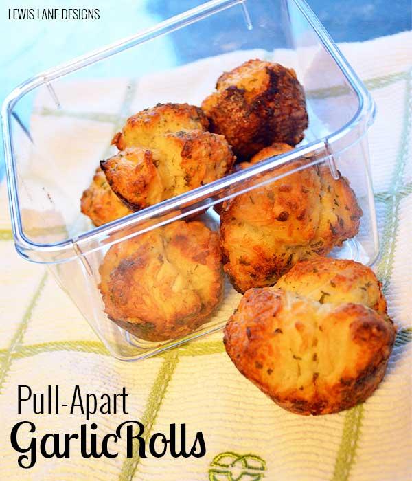 Pull-Apart Garlic Rolls by Lewis Lane
