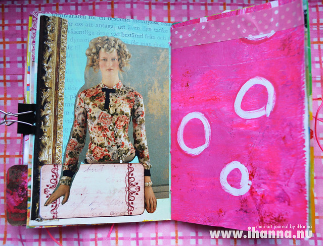 Mini Art Journal Girl & Gel Print - created by iHanna