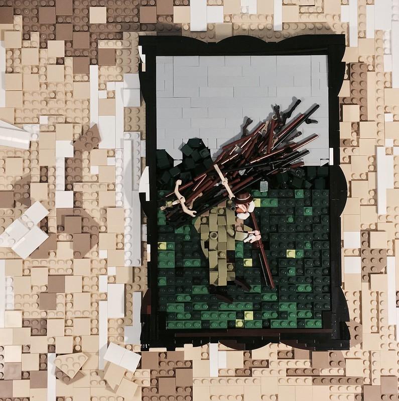 Life Sized Lego Led Zeppelin Iv Vinyl Album Cover The