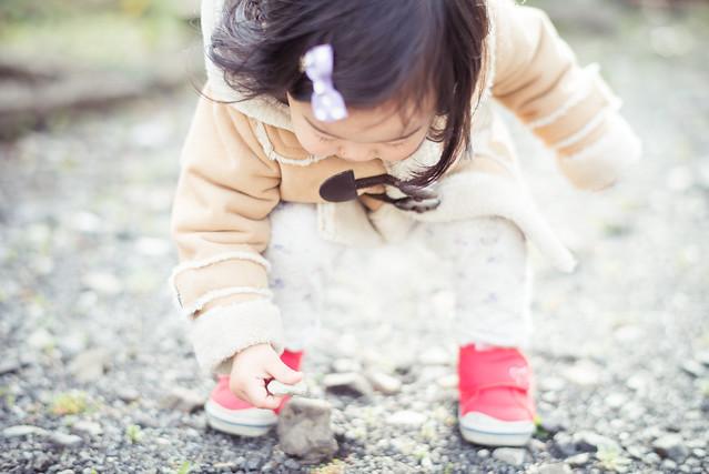 子どもの写真が撮りたくて散歩に行く