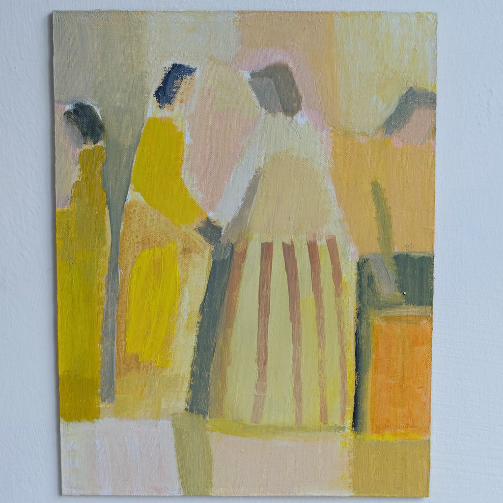 interior with figures - yellow