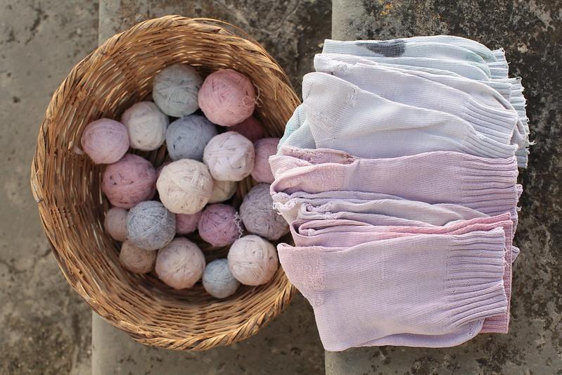 Tricotar para usar, encabeçar, reciclar e reutilizar