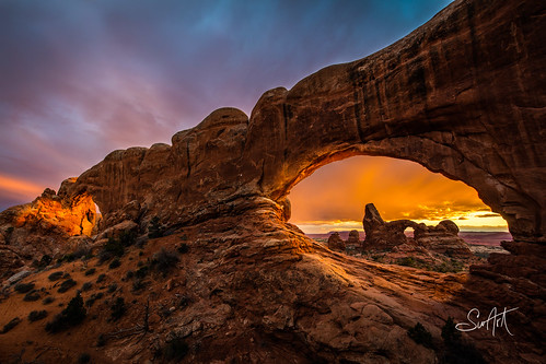 hdr utah archesnationalpark sunset northwindow turretarch greaterphotographers greatestphotographers