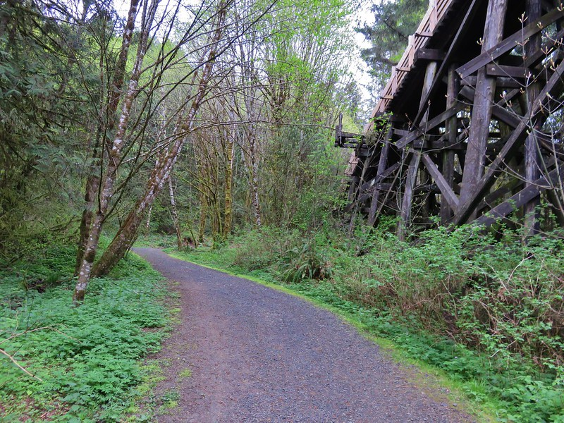 Trail heading up to the Buxton Trestle