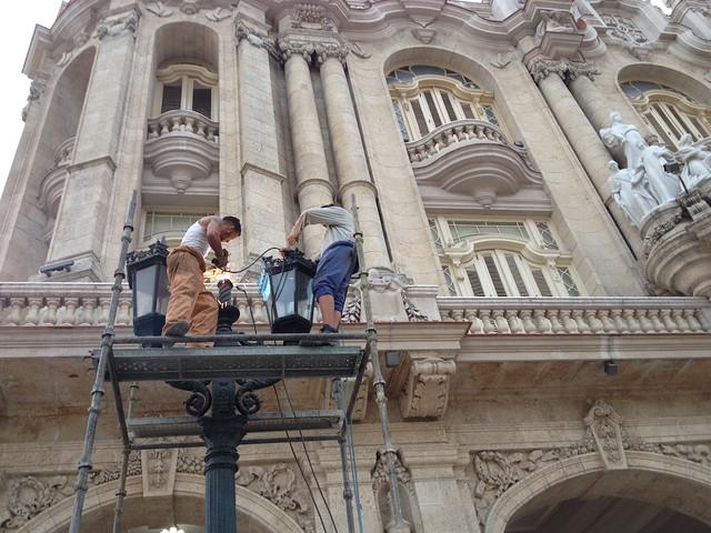 #Cuba Acicalan también el Gran Teatro de La Habana ante la visita de #ObamaCuba