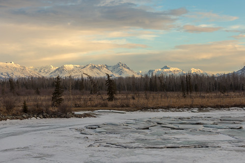morning winter light cloud mountain snow cold ice water weather alaska clouds creek sunrise landscape frozen cloudy outdoor ak range alaskarange wasilla wasillacreek