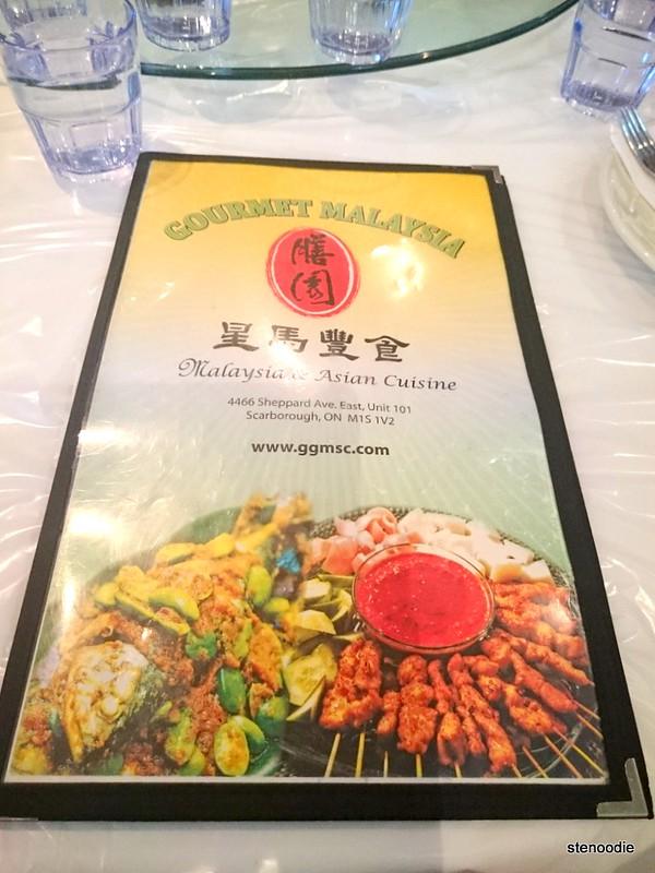 Gourmet Malaysia menu