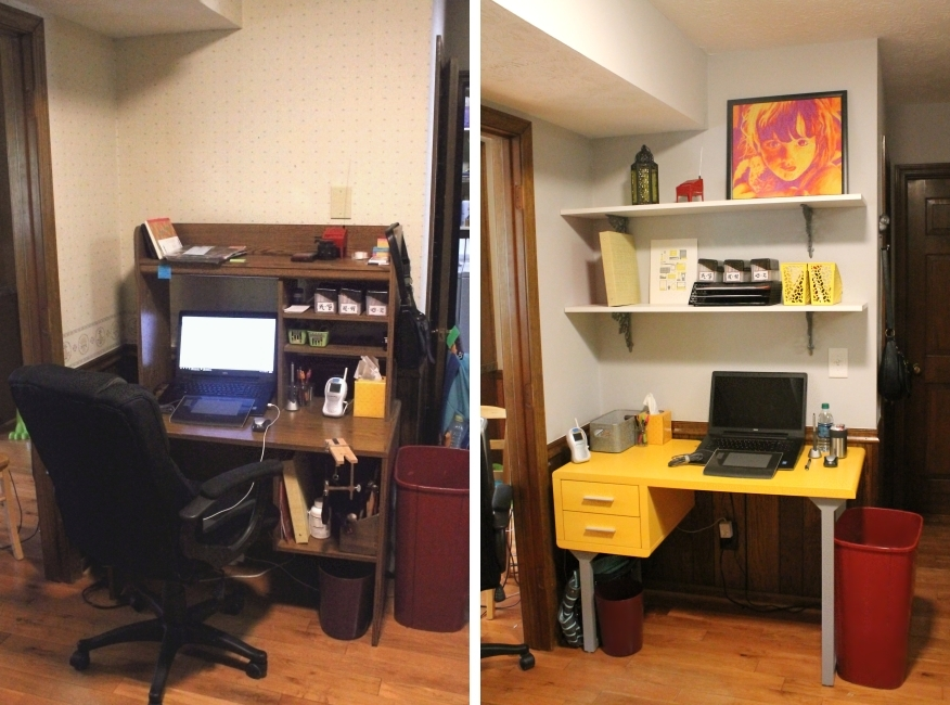 Office area makeover - Before & after