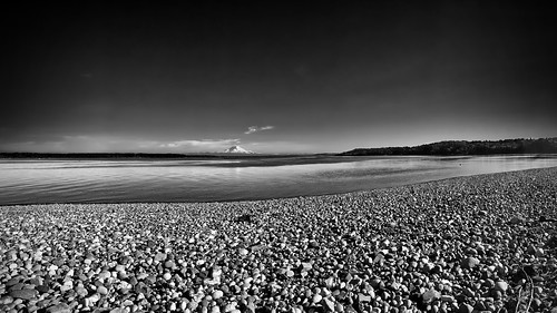 bw panorama water pebbles pugetsound vashonisland iphone project365 tonality 90366 iphoneography
