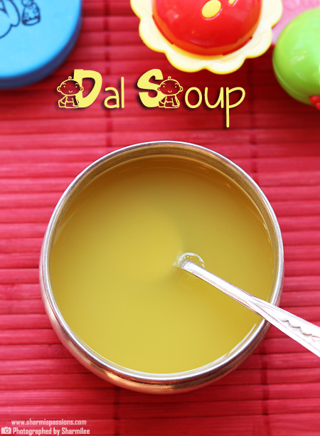Dal Soup for Babies