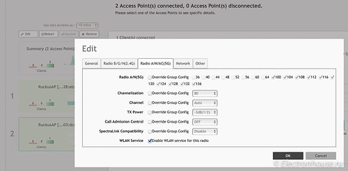 AP configuration screen