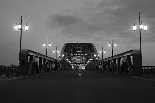 Asahibashi-Bridge, Asahikawa in morning on APR 21, 2016 (9)