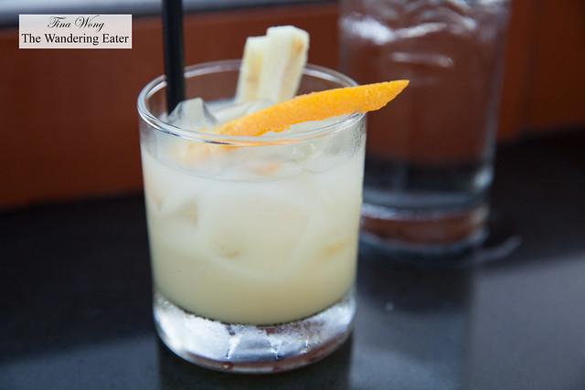Coconut lemongrass sangria