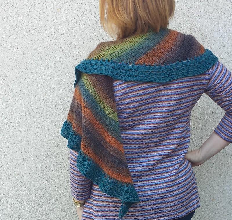 Montville crocheted wrap