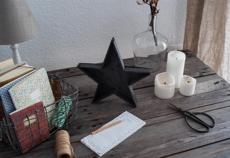Estrella con pasta ferro