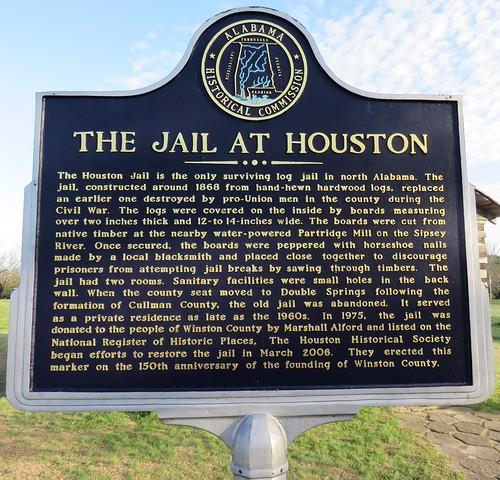 Old Winston County Jail Marker (Houston, Alabama)