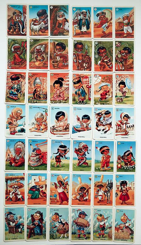 Baraja Familias de los 7 Países - primera edición - cartas