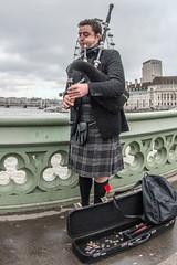 Westminster Bridge bagpipes
