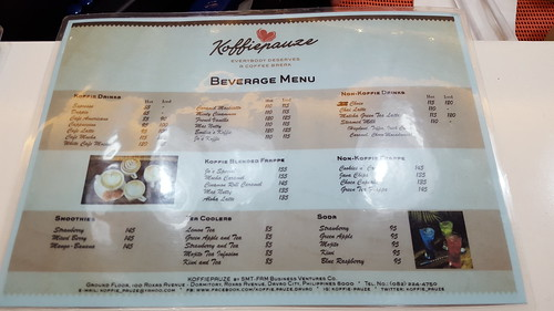 Beverage Drinks Menu | Koffie Pauze Opens Its New Home at 100 Roxas Dormitory - Davao Food Trips .com