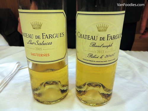 Chateau de Fargues Blanc 2005 and 2013