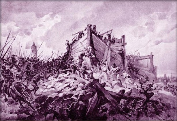Battle of Vítkov Hill; by Adolf Liebscher