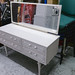 White retro dressing table