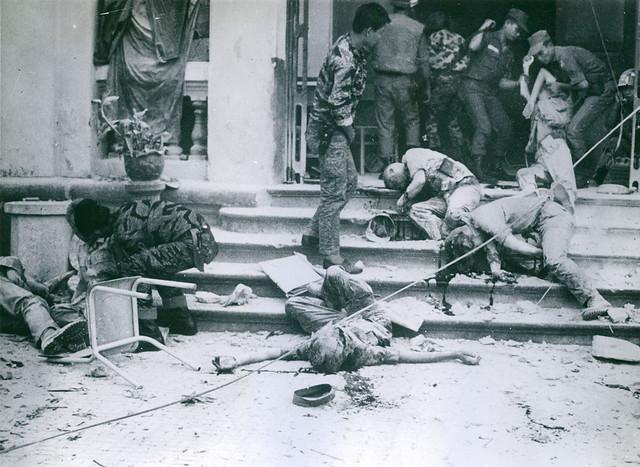 SAIGON (Sunday, 02 June 1968) - Vụ trực thăng Mỹ bắn rocket nhầm vào trường Phước Đức (nay là trường Trần Bội Cơ, Chợ Lớn) trong biến cố Tết Mậu Thân đợt hai.