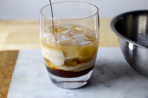 a swirl of white russian