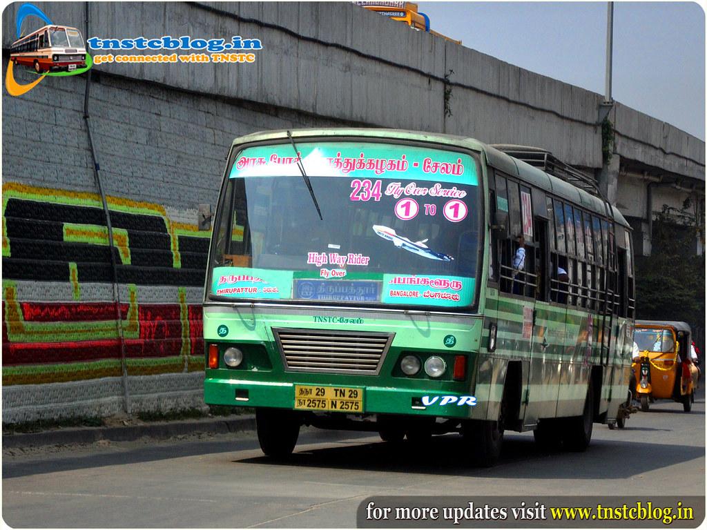 TN29N.2575 Of Tnstc Salem Dharmapuri Region Tirupathur Depot Route 500D  Tirupathur-Bangaluru