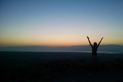 Sunrise Yoga at the Base of Masada