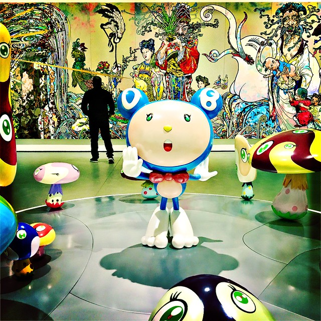 Takashi Murakami at the Broad Museum, Los Angeles.