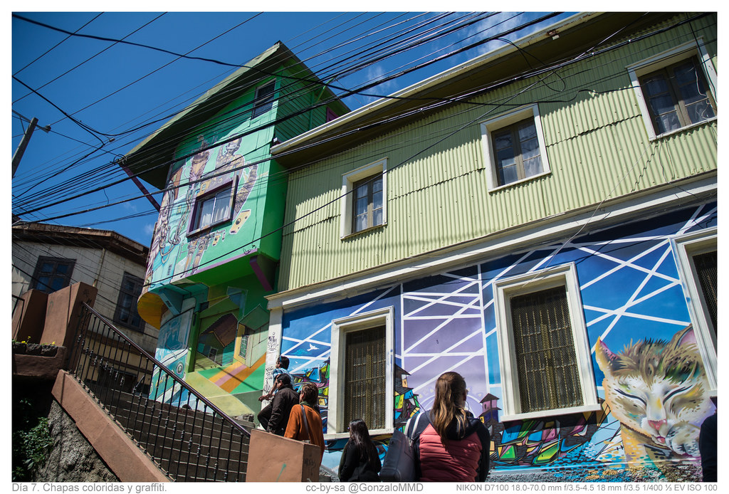 Día 7. Chapas coloridas y graffiti.