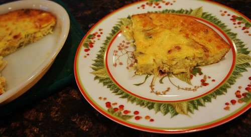 At Home: Onion & Bacon Crustless Quiche