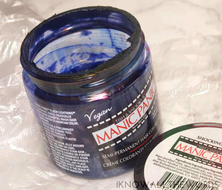 new hair manic panic shocking blue