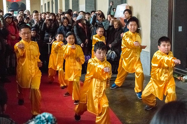 Kung-fu exhibition