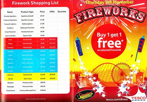 Tesco 2015 Small Sparklers £0.50