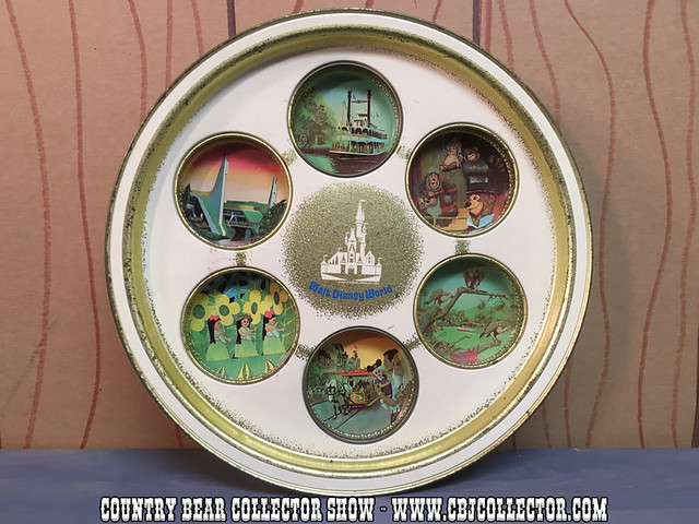 1970s Walt Disney World Tin Serving Tray featuring the Country Bear Jamboree - Country Bear Jamboree Collector Show #036