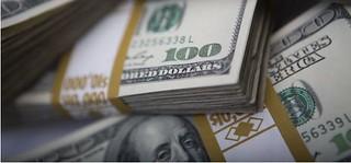 Bundles of 100 dollar bills