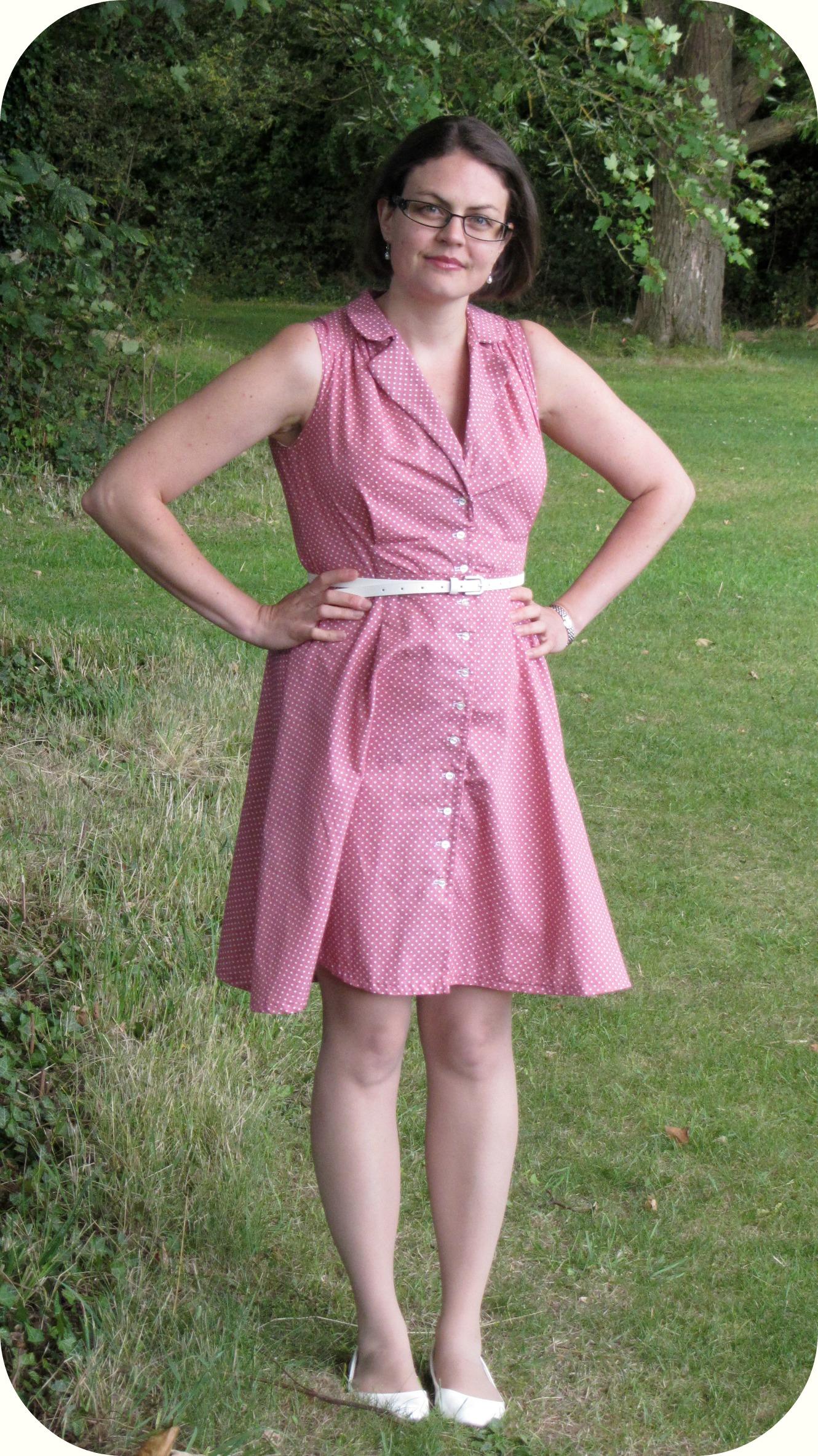 Polka dot Vintage shirt dress