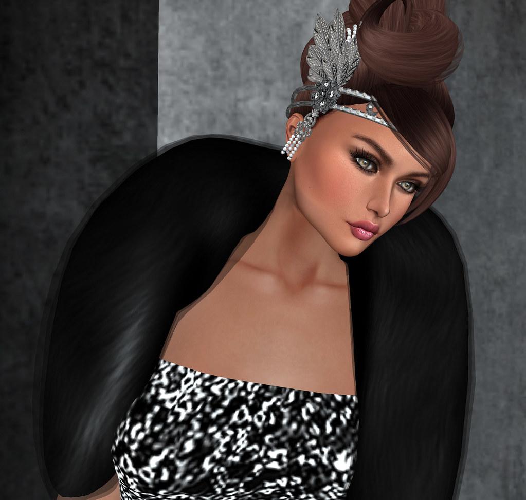 Great Gatsby Black Pearl Headdress, BamPu Legacies @J&A